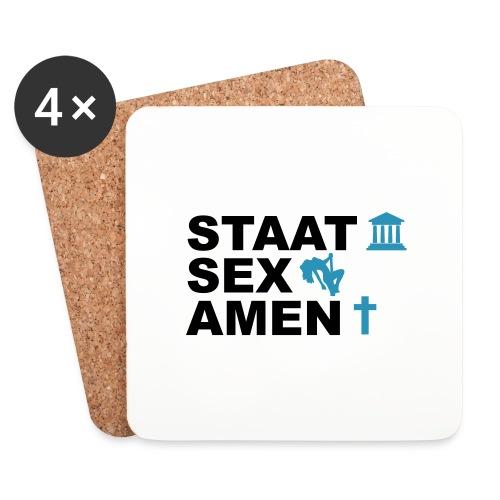 Staatsexamen / Staat Sex Amen - Untersetzer (4er-Set)