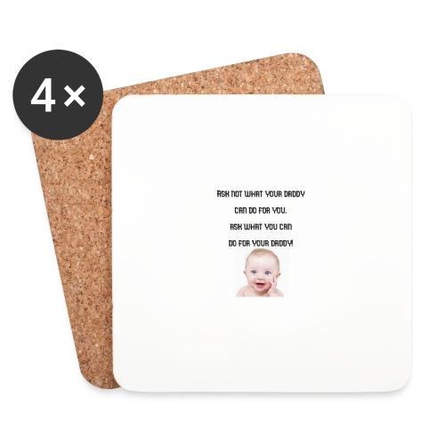 daddy tshirt sort tekst - Coasters (set of 4)