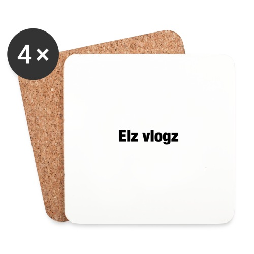 Elz vlogz merch - Coasters (set of 4)
