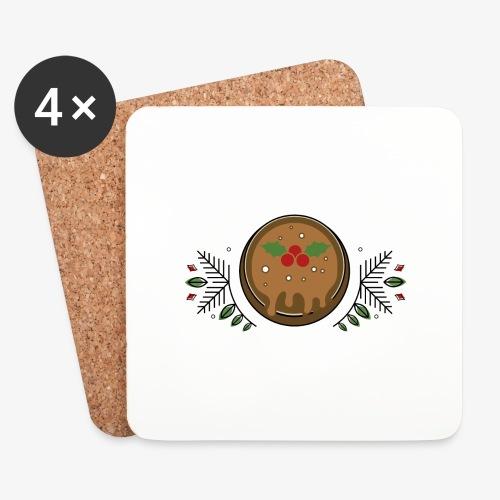 CHRISTMAS PUDDING - Coasters (set of 4)