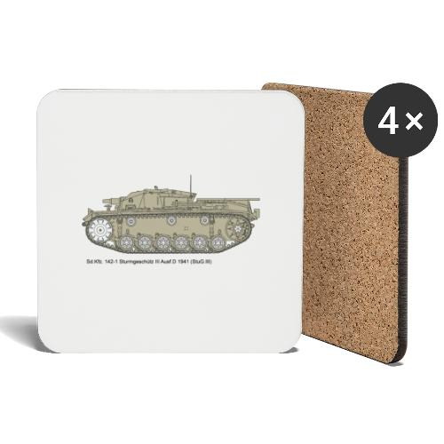 Stug III Ausf D. - Untersetzer (4er-Set)