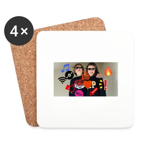 Coolrockskingen och Jojo - Underlägg (4-pack)