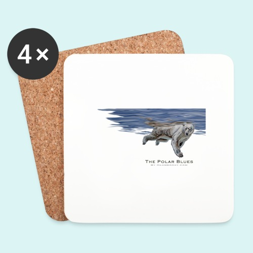 Polar-Blues-SpSh - Coasters (set of 4)