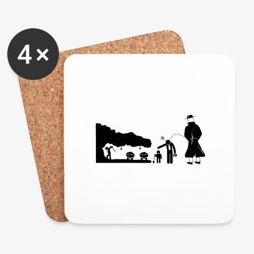 Pissing Man against child labor - Untersetzer (4er-Set)
