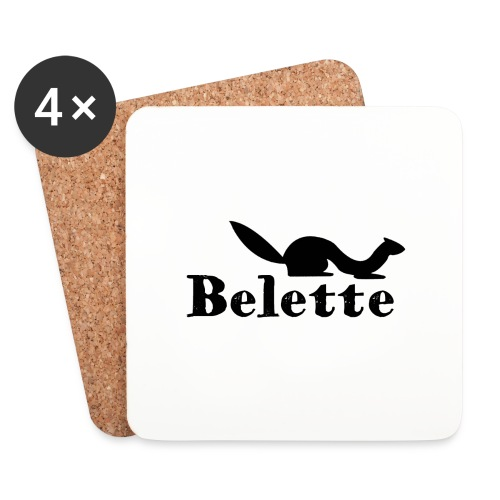 T-shirt Belette simple - Dessous de verre (lot de 4)