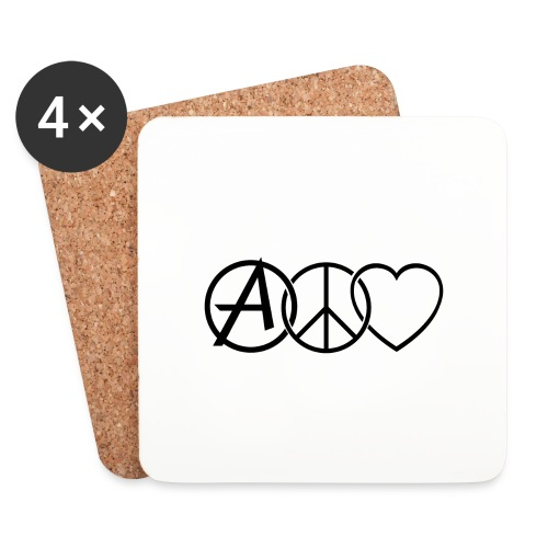 ANARCHY PEACE & LOVE - Coasters (set of 4)