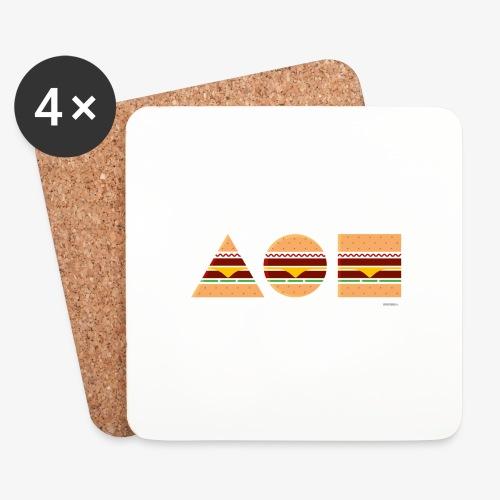 Graphic Burgers - Sottobicchieri (set da 4 pezzi)
