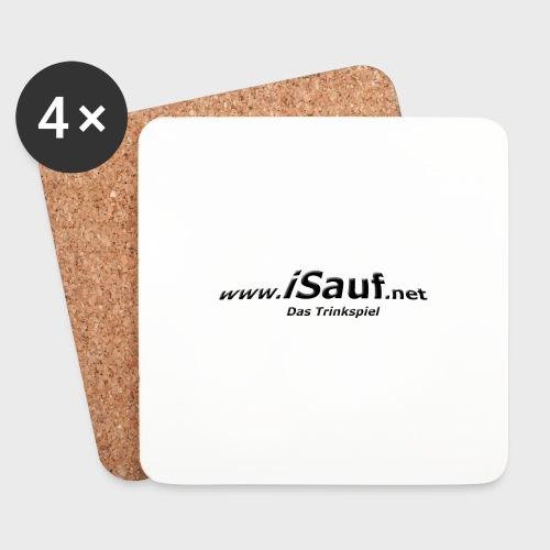 iSauf-Schriftzug - Untersetzer (4er-Set)