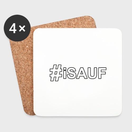 Hashtag iSauf - Untersetzer (4er-Set)