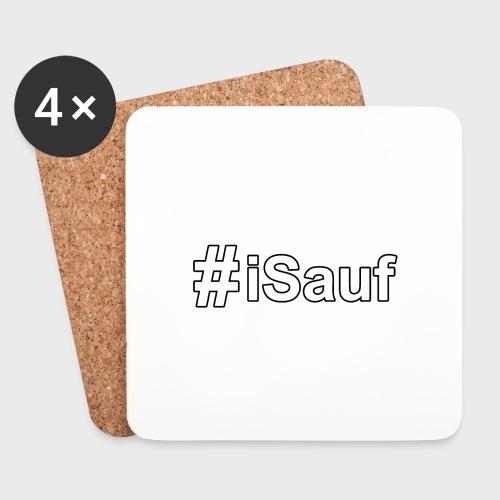 Hashtag iSauf klein - Untersetzer (4er-Set)