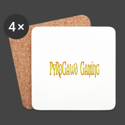 PyroGawd Logo Text - Untersetzer (4er-Set)