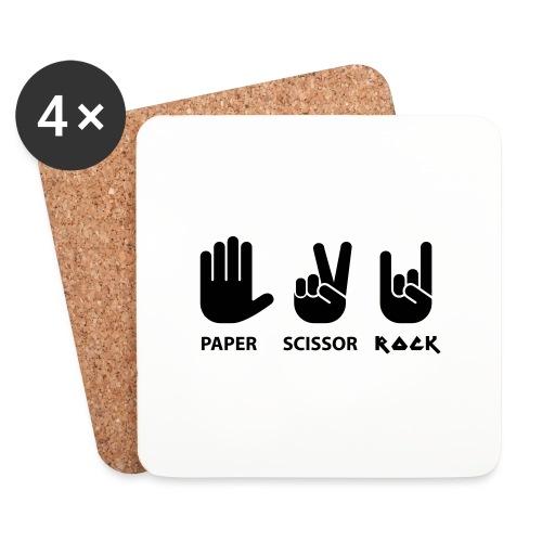 papier ciseaux roche c - Dessous de verre (lot de 4)