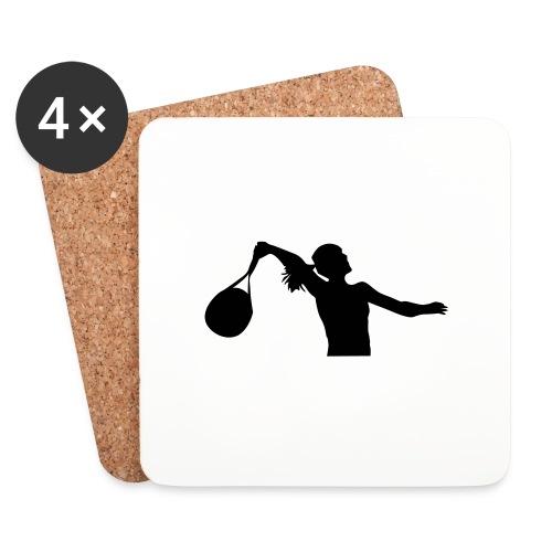 tennis silouhette 6 - Dessous de verre (lot de 4)