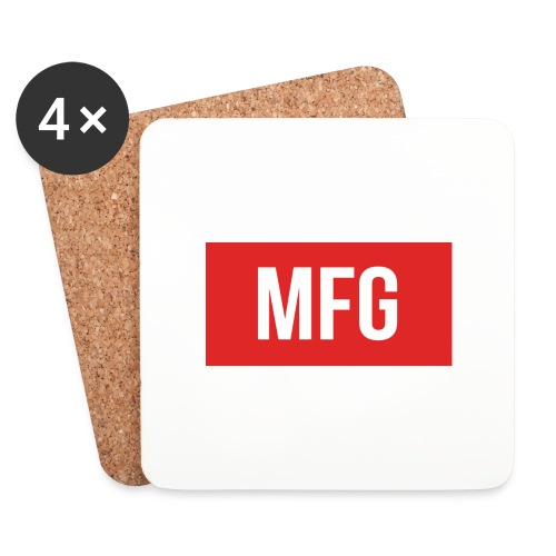 MFG on Youtube Logo - Coasters (set of 4)