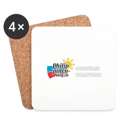 Philippinen-Blog Logo deutsch schwarz/weiss - Untersetzer (4er-Set)