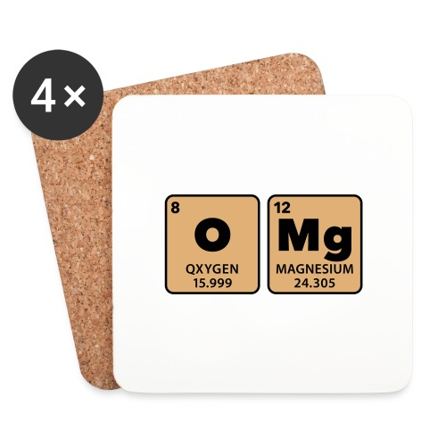 periodic table omg oxygen magnesium Oh mein Gott - Coasters (set of 4)
