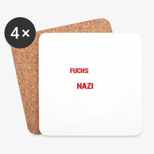 Fuchs und Nazi - Antifa - Untersetzer (4er-Set)