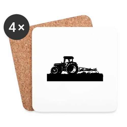 Tractor with cultivator - Coasters (set of 4)