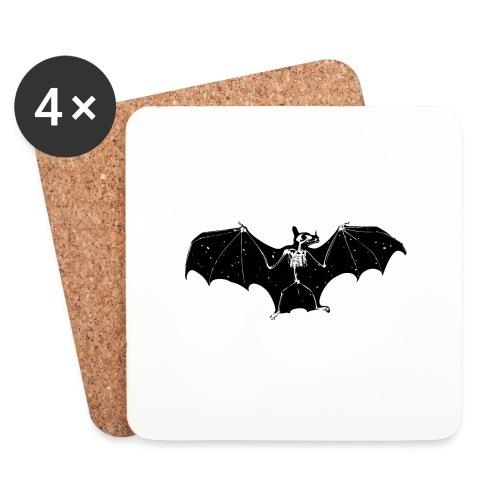 Bat skeleton #1 - Coasters (set of 4)