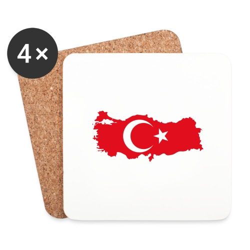 Tyrkern - Glasbrikker (sæt med 4 stk.)