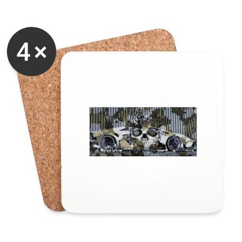 calavera style - Coasters (set of 4)