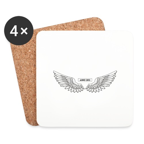 T SHIRT logo wit png png - Onderzetters (4 stuks)
