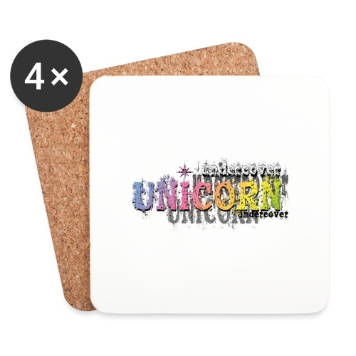 Undercover Unicorn - Dessous de verre (lot de 4)