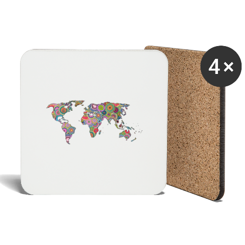 Hipsters' world - Coasters (set of 4)