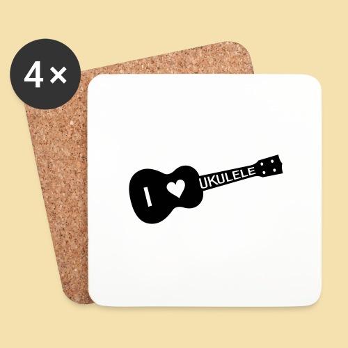 I love UKULELE - Untersetzer (4er-Set)