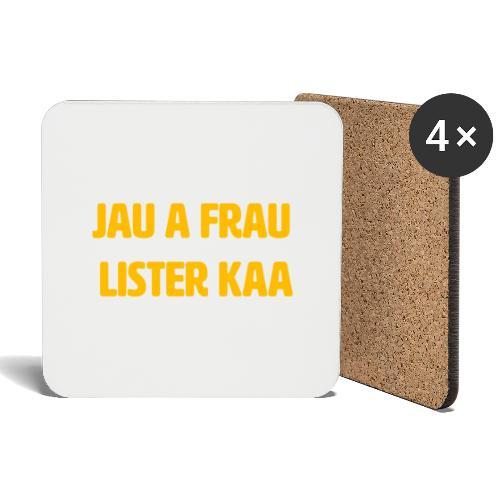 Jau a frau Lister kaa - Underlägg (4-pack)