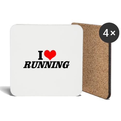 I love running - Untersetzer (4er-Set)