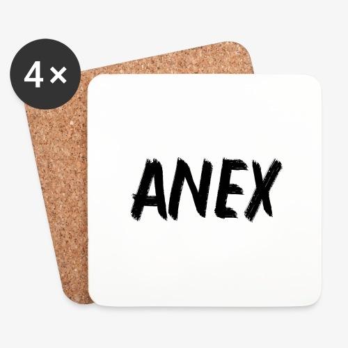V-neck T-Shirt Anex black logo - Coasters (set of 4)