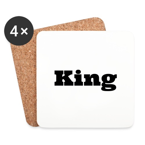Snapback king rood/zwart - Onderzetters (4 stuks)
