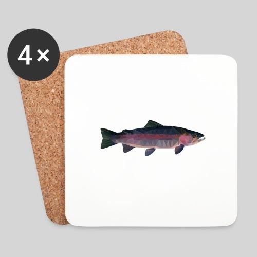 Trout - Lasinalustat (4 kpl:n setti)