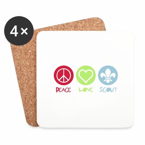 Peace Love Scout - Dessous de verre (lot de 4)
