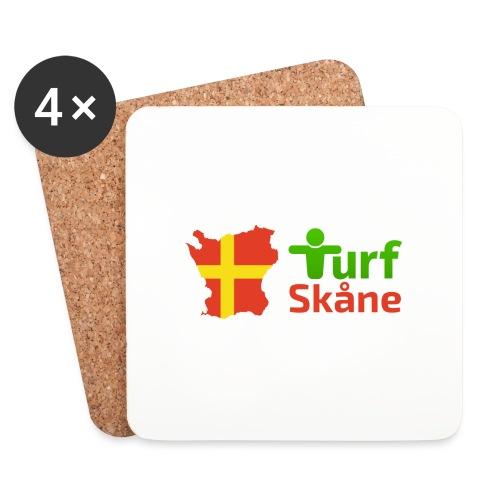 Turf Skåne Logo röd - Underlägg (4-pack)
