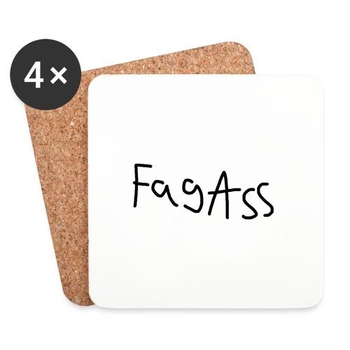Fag Ass Logo #1 - Glasbrikker (sæt med 4 stk.)