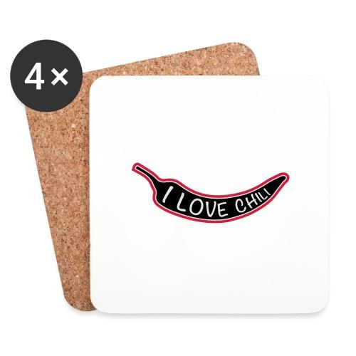 I love chili - Lasinalustat (4 kpl:n setti)