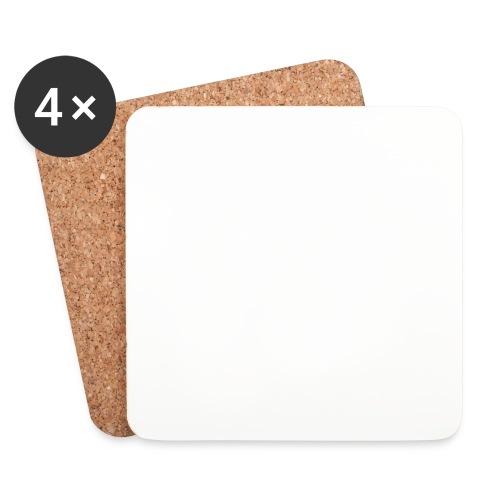 FJOLS med hvid tekst - Glasbrikker (sæt med 4 stk.)