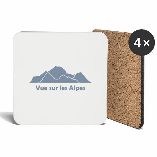 Vue sur les Alpes - Dessous de verre (lot de 4)