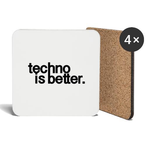 techno is better logo - Podstawki (4 sztuki w zestawie)