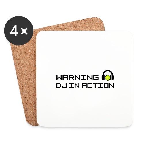 Warning DJ in Action - Onderzetters (4 stuks)