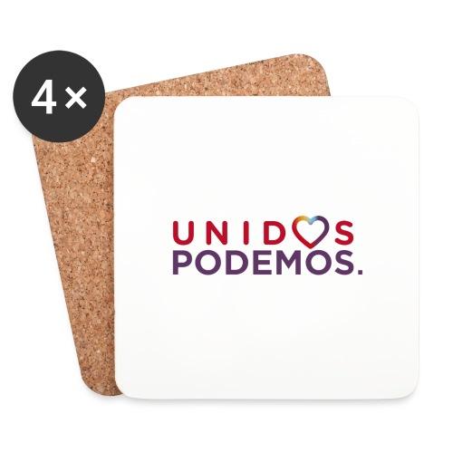 Taza Unidos Podemos 2016 Blanca - Posavasos (juego de 4)