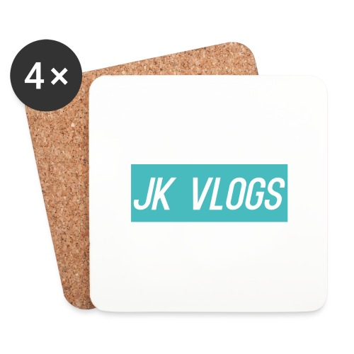 JK Vlogs Logo 2 - Coasters (set of 4)