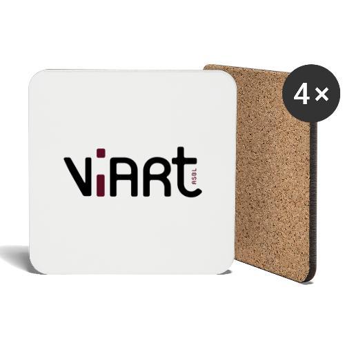 viart logo vect 2coul - Untersetzer (4er-Set)