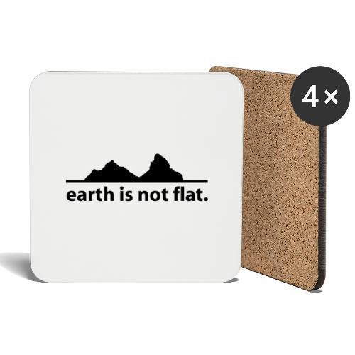 earth is not flat. - Untersetzer (4er-Set)