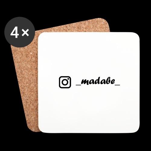 madabe instagram - Untersetzer (4er-Set)