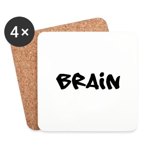 brain schriftzug - Untersetzer (4er-Set)