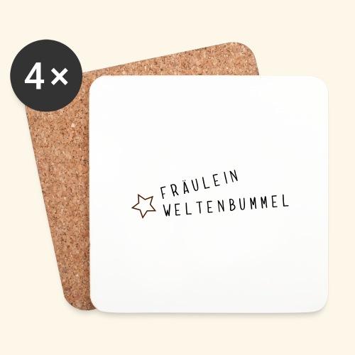 Fräulein Weltenbummel - Untersetzer (4er-Set)