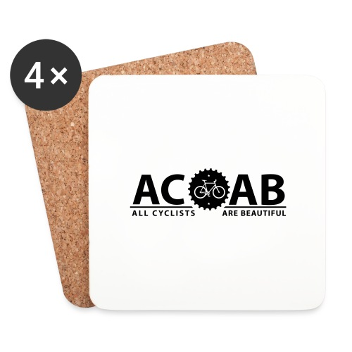 ACAB ALL CYCLISTS - Untersetzer (4er-Set)
